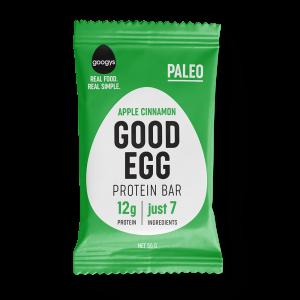 front of Googys Good Egg apple cinnamon bar pack