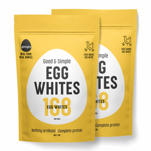 2 packets of Good and simple egg whites pouches