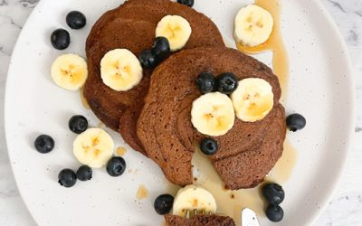 Healthy Chocolate Protein Pancakes