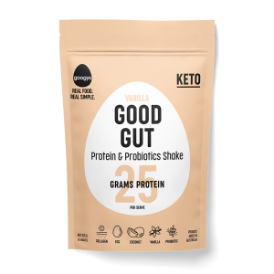 vanilla flavoured protein and probiotic shake pouch